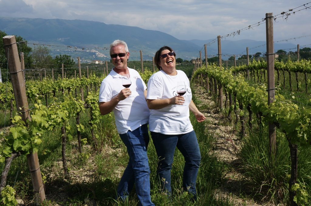 Mark & Giselle Stafford - Founders of Gusto Wine Tours.